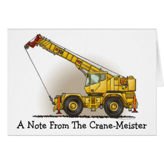 Crane Construction Equipment Note Card