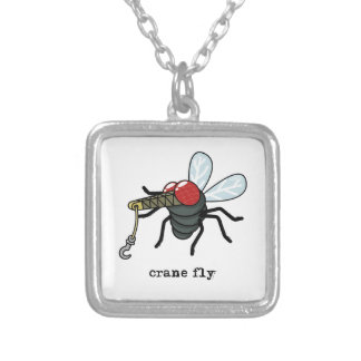 Crane Fly Silver Plated Necklace