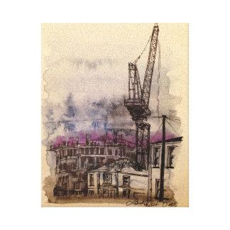 Crane Illustrated Canvas