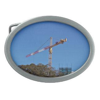 Crane in construction belt buckle