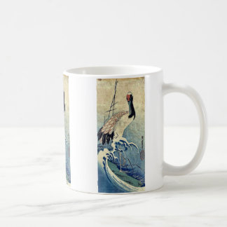 Crane in Waves by Ando, Hiroshige Uiyoe. Mugs