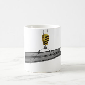 Crane Lifting Girders Mug