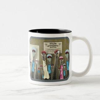 Crane Med Two-Tone Coffee Mug