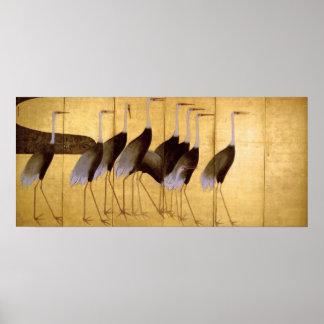 Crane, Ogata Kōrin Fine Art Poster
