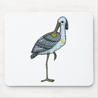 Crane On One Foot Mousepad
