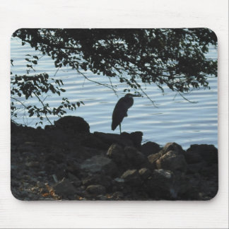 Crane on the water Mousepad