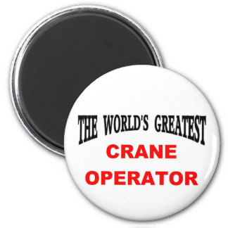 Crane operator 6 cm round magnet