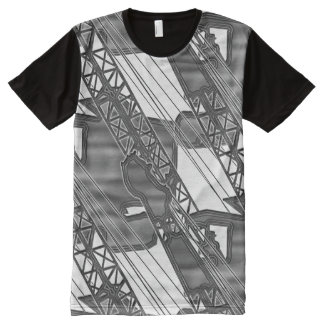 CRANE OPERATOR BOOM TIP ART NORTHWEST CRAWLER All-Over PRINT T-Shirt