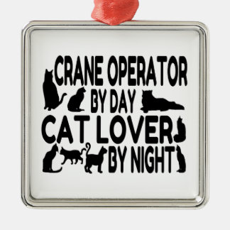 Crane Operator Cat Lover Christmas Ornament