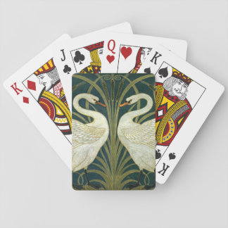 Crane's Art Nouveau Swans Playing Cards