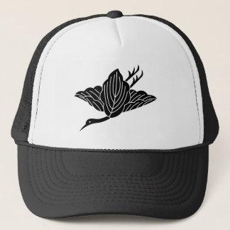 Crane-shaped oak leaves trucker hat