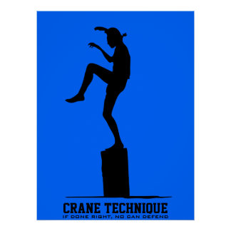 Crane Technique - If done right no can defend Posters