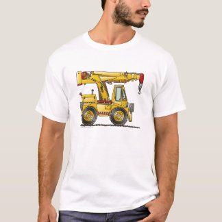 Crane Truck Construction Apparel T-Shirt