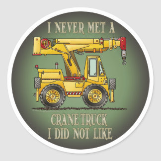 Crane Truck Operator Quote Kids Sticker