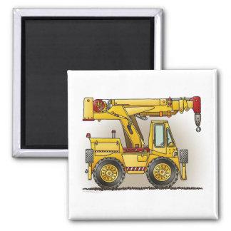 Crane Truck Square Magnet