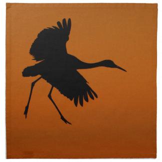 Crane Walking on Air Napkin