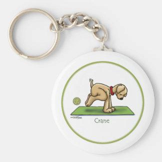 Crane - Yoga keychain