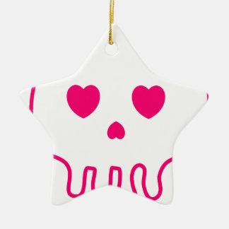 Cráneo Love :) Ceramic Star Decoration