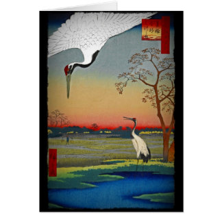 Cranes and Blue Water Card