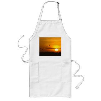 Cranes at sunrise long apron