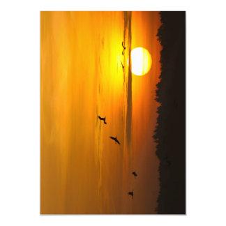 Cranes at sunrise magnetic invitations
