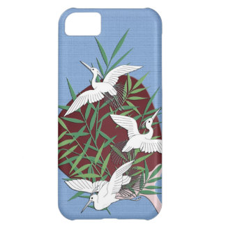 Cranes, bamboo and fan iPhone 5C case