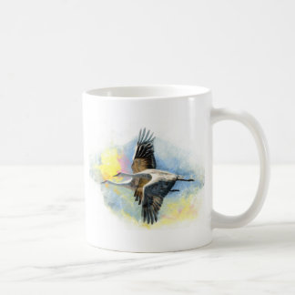 Cranes Basic White Mug