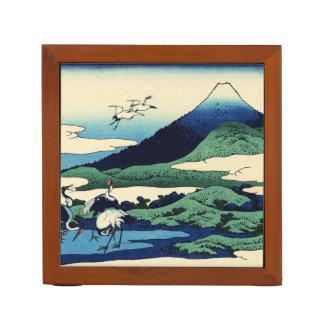 Cranes Fly Toward Mountain Desk Organiser