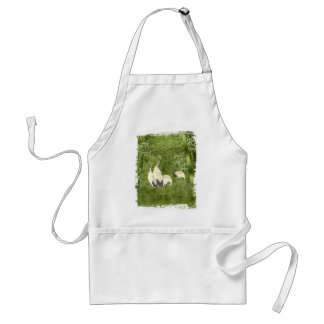 Cranes in the Bamboo Forest Apron