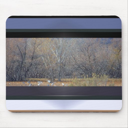 Cranes in the Fall Mousepad