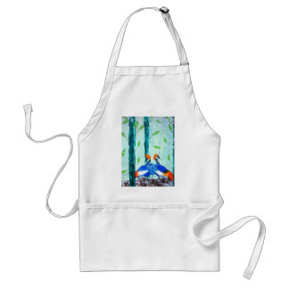 cranes in winter standard apron