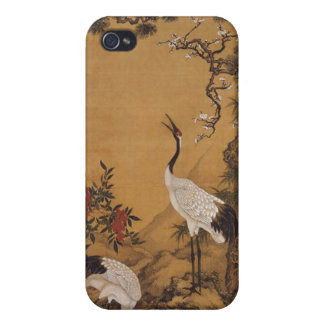 Cranes Japanese Woodblock  iPhone 4 Covers