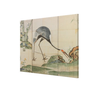 Cranes, Pines, and Bamboo Canvas Print