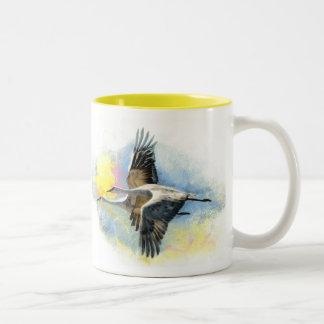 Cranes Two-Tone Mug