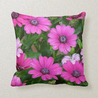 Cranesbill Geranium (Pink Flowers) Pillow Throw Cushion