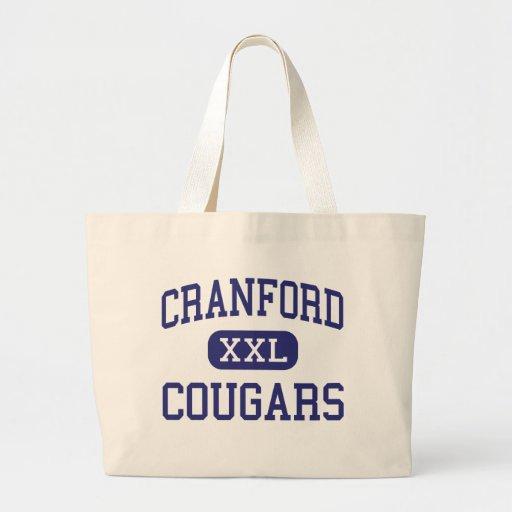 Cranford - Cougars - High - Cranford New Jersey Tote Bag