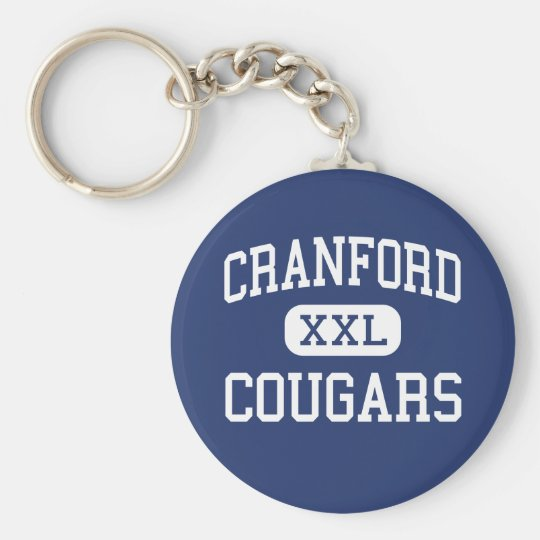 Cranford - Cougars - High - Cranford New Jersey Basic Round Button Key Ring