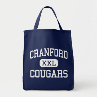 Cranford - Cougars - High - Cranford New Jersey Grocery Tote Bag
