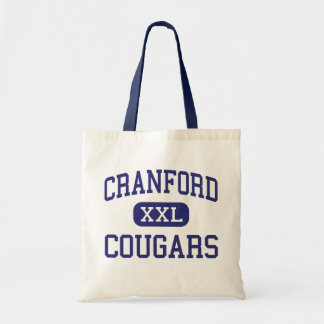 Cranford - Cougars - High - Cranford New Jersey Budget Tote Bag