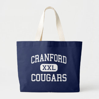 Cranford - Cougars - High - Cranford New Jersey Jumbo Tote Bag