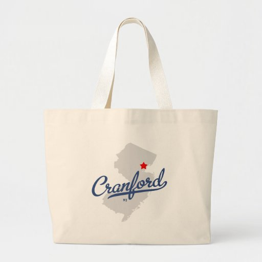 Cranford New Jersey NJ Shirt Canvas Bags