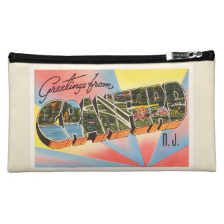 Cranford New Jersey NJ Vintage Travel Postcard- Cosmetic Bag