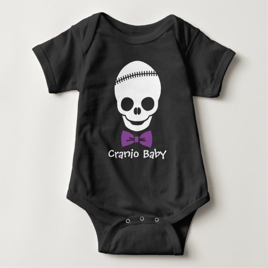 Cranio Baby Boy Skull with Purple Bowtie Baby
