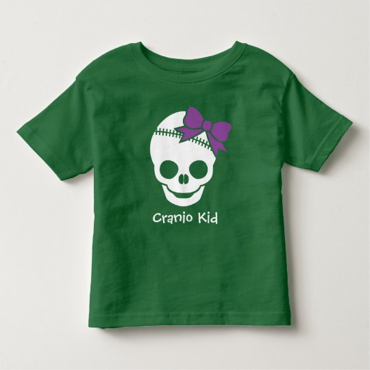 Cranio Kid Girl Skull with Purple Bow Toddler
