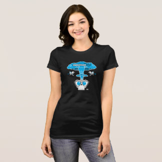 CraniumTap Atom Blast Woman's Black T-Shirt