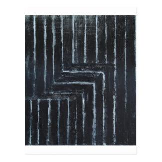 Cranked Stripes (Black minimalism) Postcard