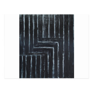 Cranked Stripes (Black minimalism) Postcard