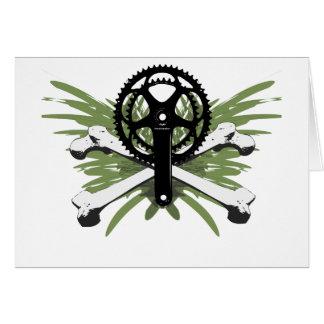 Crankset Bones - green Greeting Card