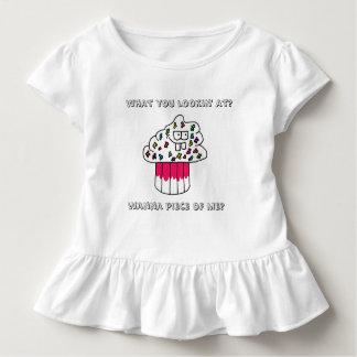 Cranky Cupcake Girls Ruffled Tshirt in White