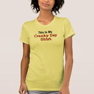 Cranky Day Funny Grumpy Attitude Woman's Crabby Tshirt